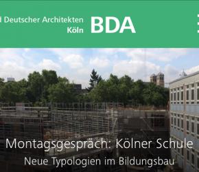 BDA Montagsgespräch: Kölner Schule. Foto: gernot schulz : architekten GmbH