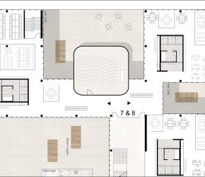 Offene Lernlandschaft IUS Heliosschule, Köln. Grafik: schilling architekten, Köln